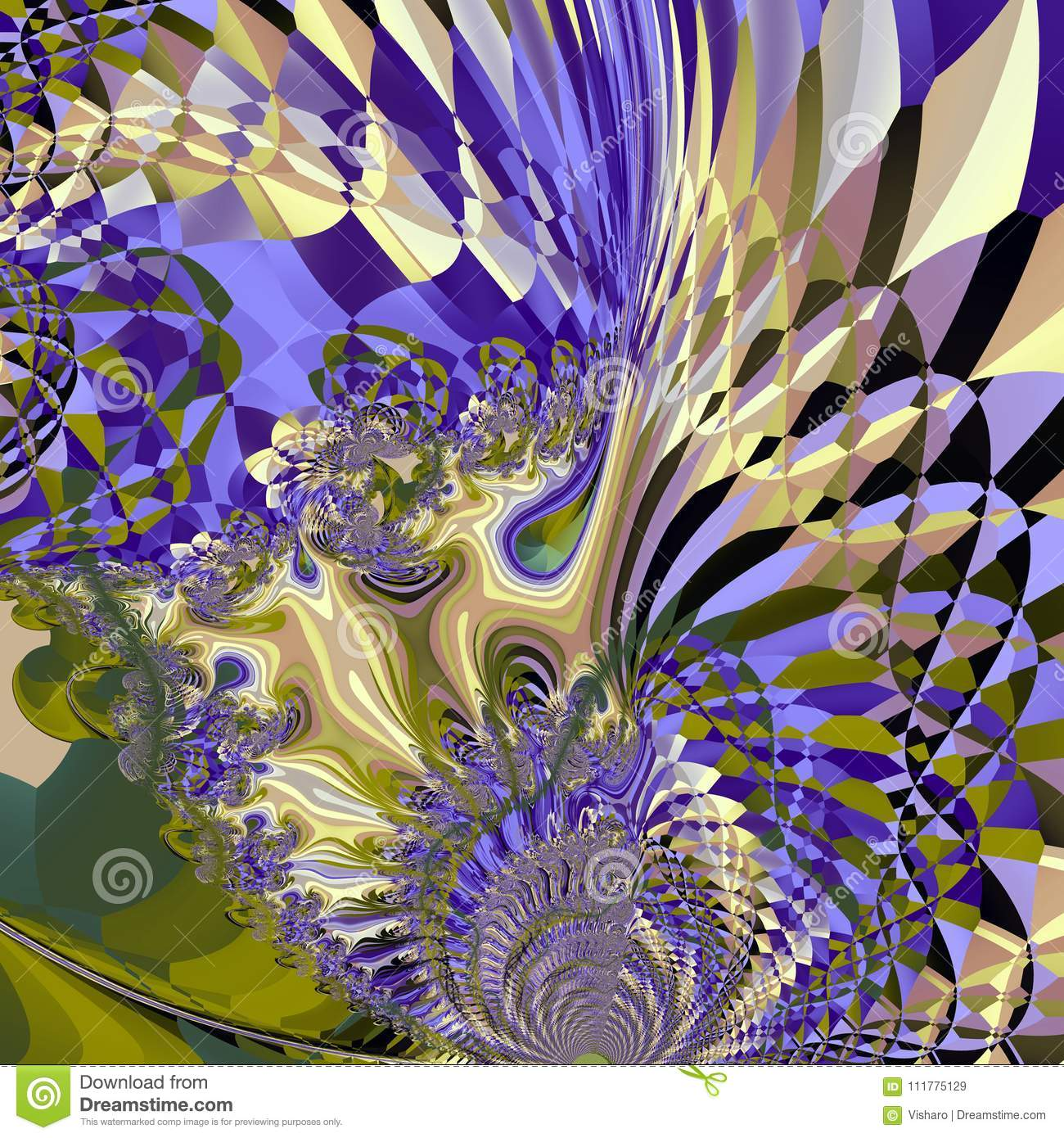 Purple Abstract Feather Pattern