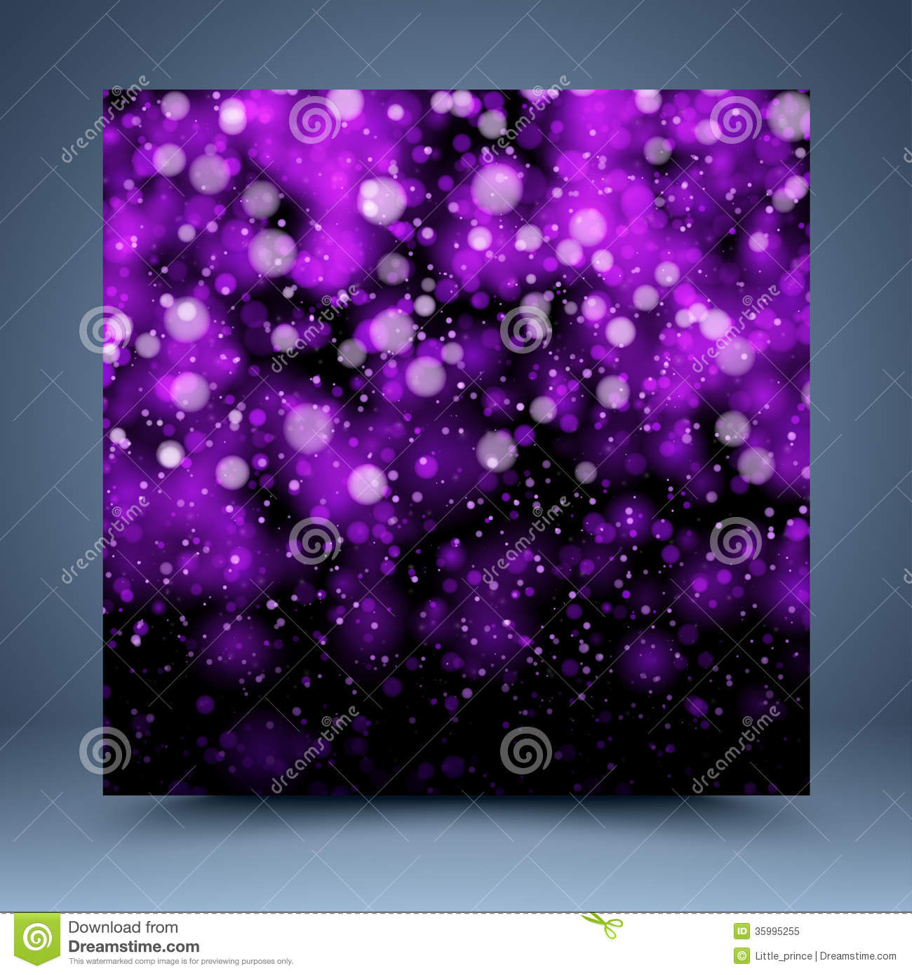 Purple And Black Bokeh Vector Abstract Background