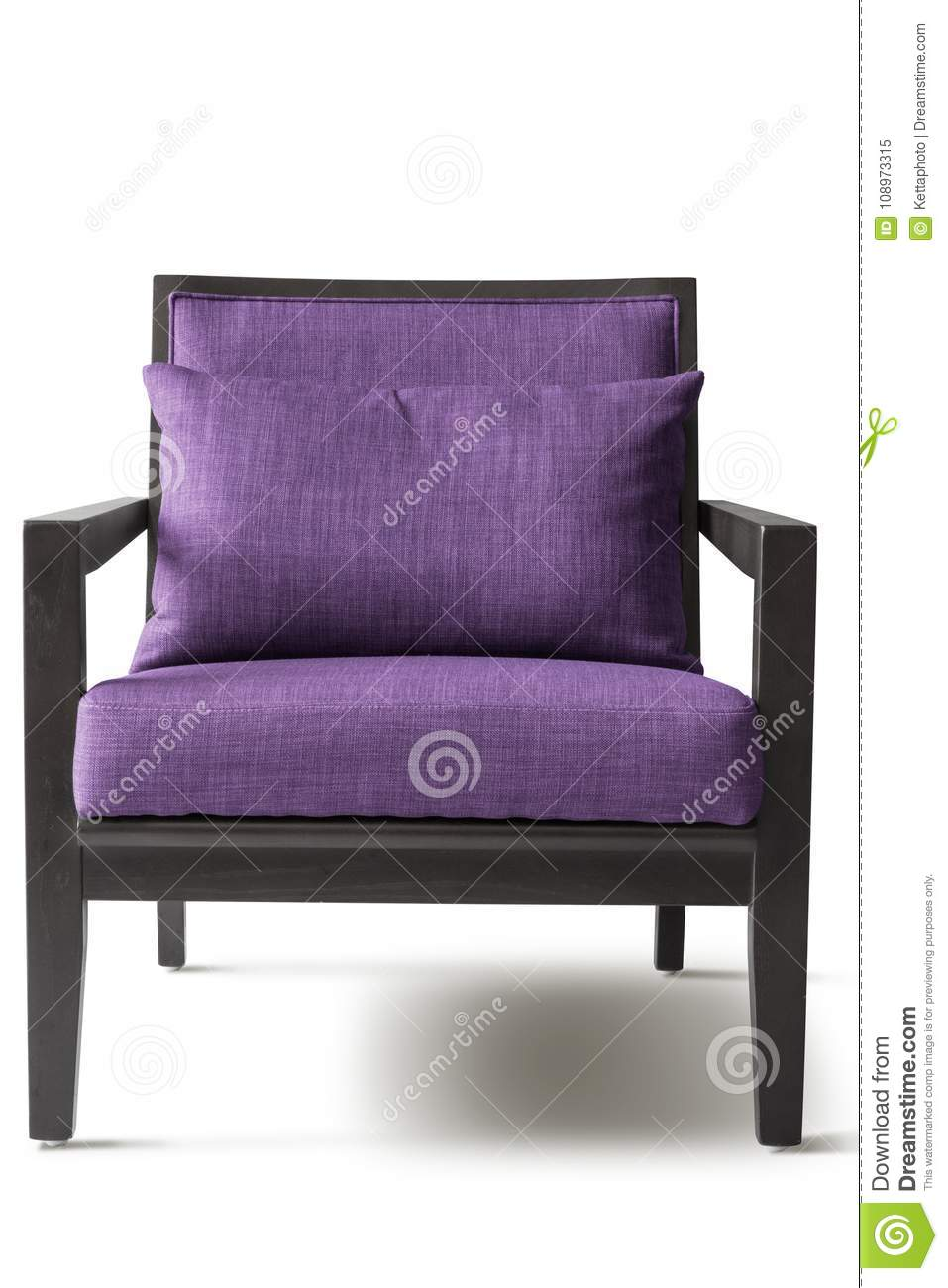 Purple armchair stock image. Image of elegance, background ...