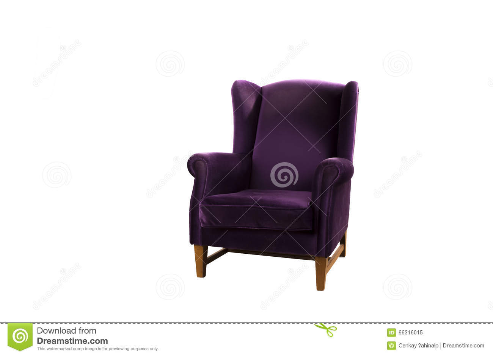 Download Purple Armchair Velvet Stock Image. Image Of Style, Studio    66316015