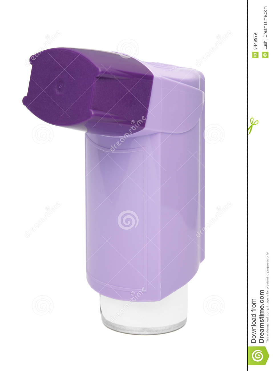Purple Asthma Inhaler Royalty Free Stock Images - Image: 8449999