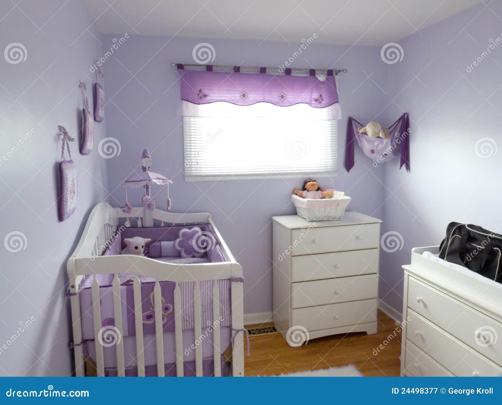 Purple Babies Room Royalty Free Stock Photography Image