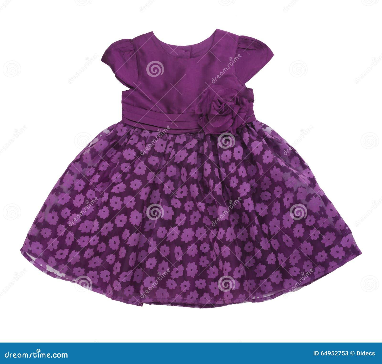 c24c10ddf7d0 Purple Baby Dress On White Background Stock Image - Image of dress ...