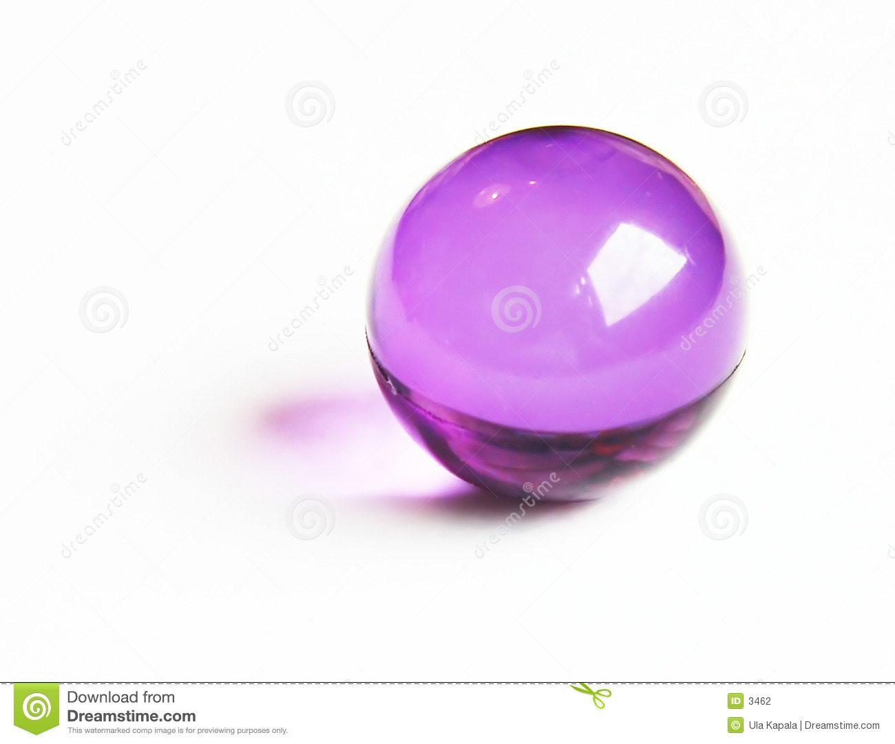 Purple bath ball