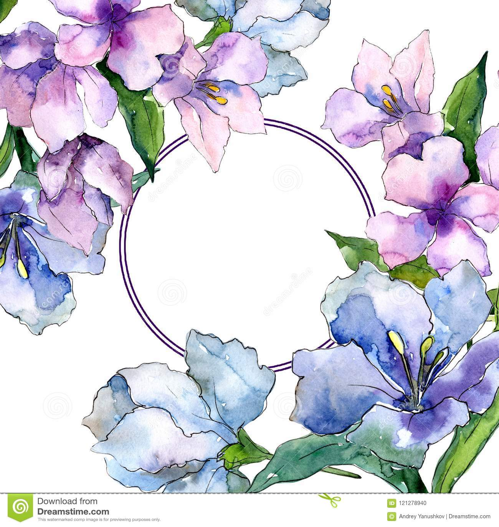 Purple and blue alstroemeria flowers floral botanical flower frame purple and blue alstroemeria flowers floral botanical flower frame border ornament square izmirmasajfo