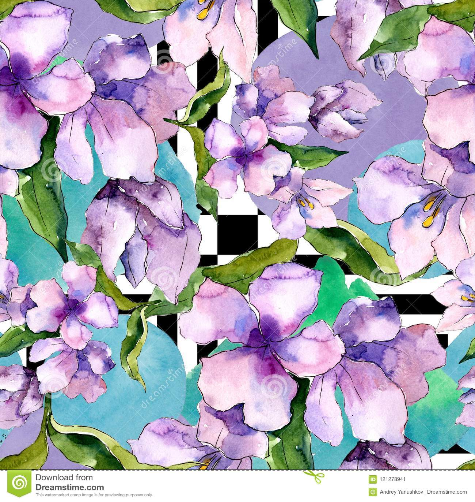 Purple and blue alstroemeria flowers floral botanical flower download purple and blue alstroemeria flowers floral botanical flower seamless background pattern stock izmirmasajfo