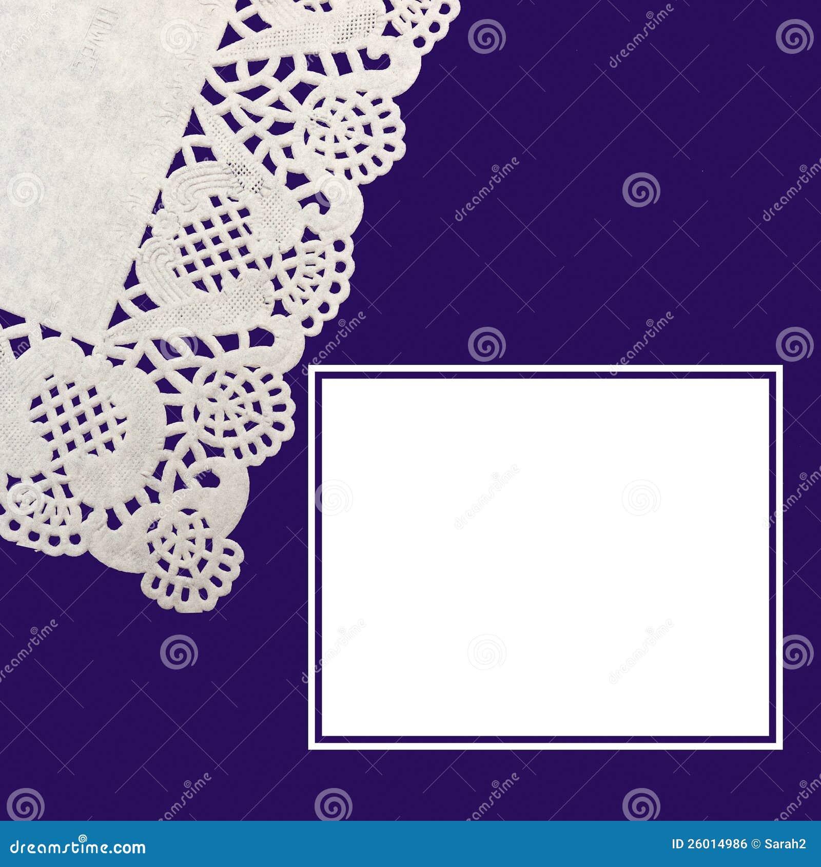Purple Blue Invitation Background Stock Photo