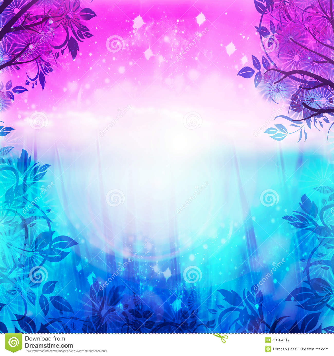 purple and blue spring background royalty free stock