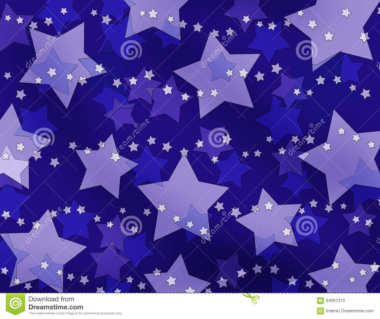 Purple And Blue Stars Background Stock Illustration ...