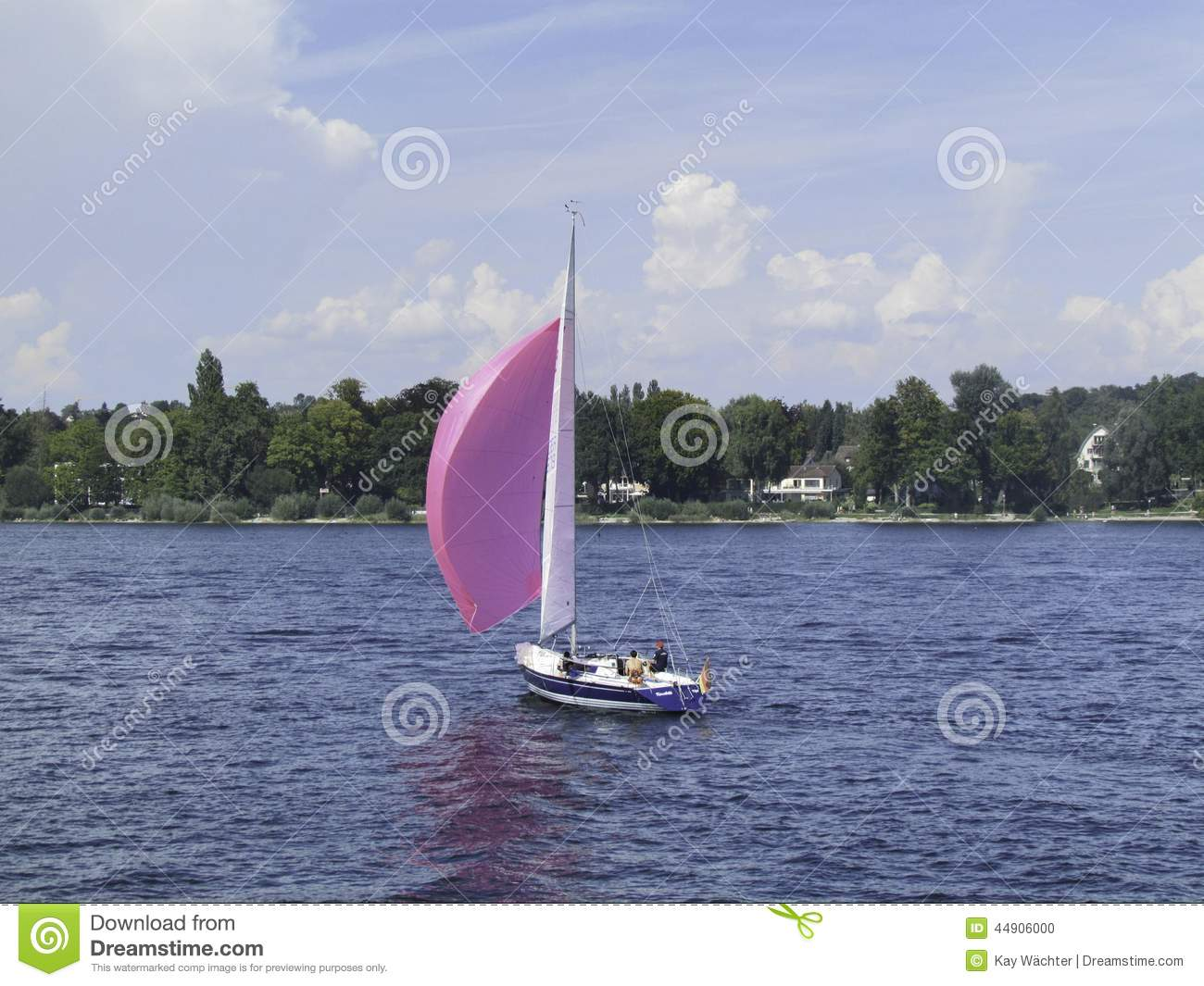 The Purple Boat Stock Photo - Image: 44906000