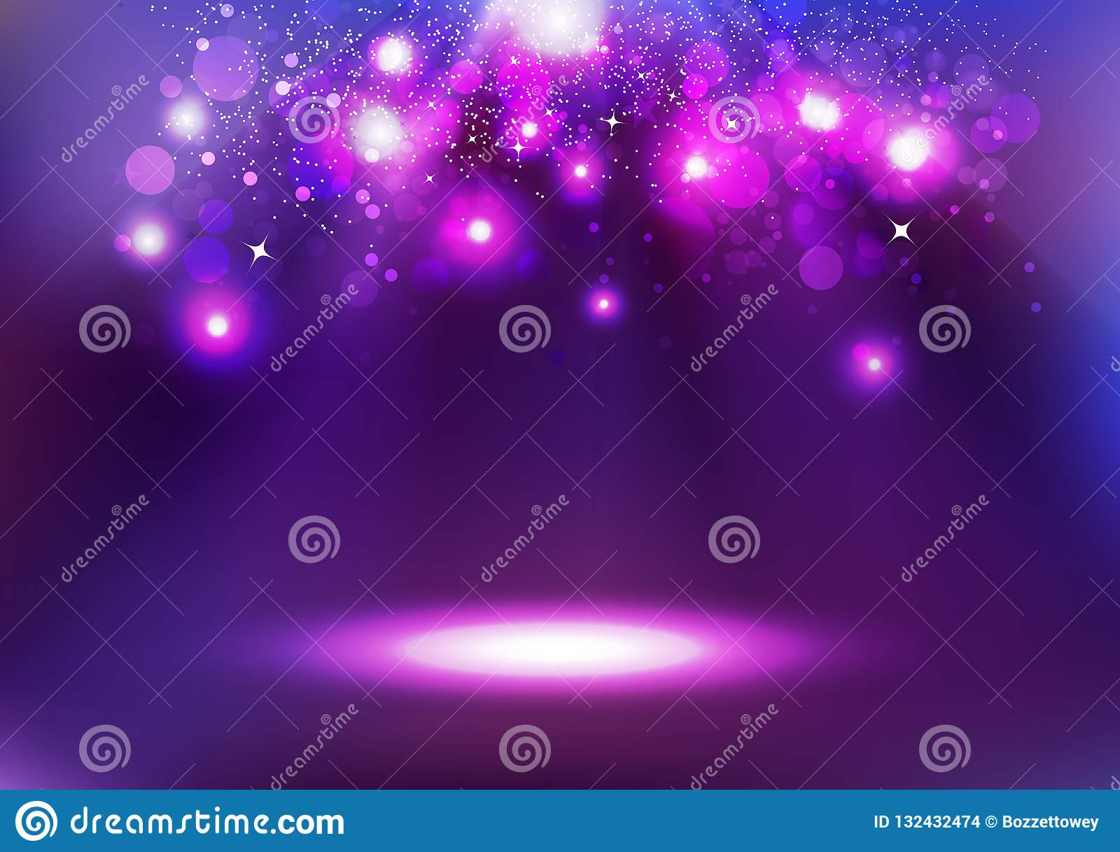 Purple Bokeh, glowing celebration, abstract background vector il