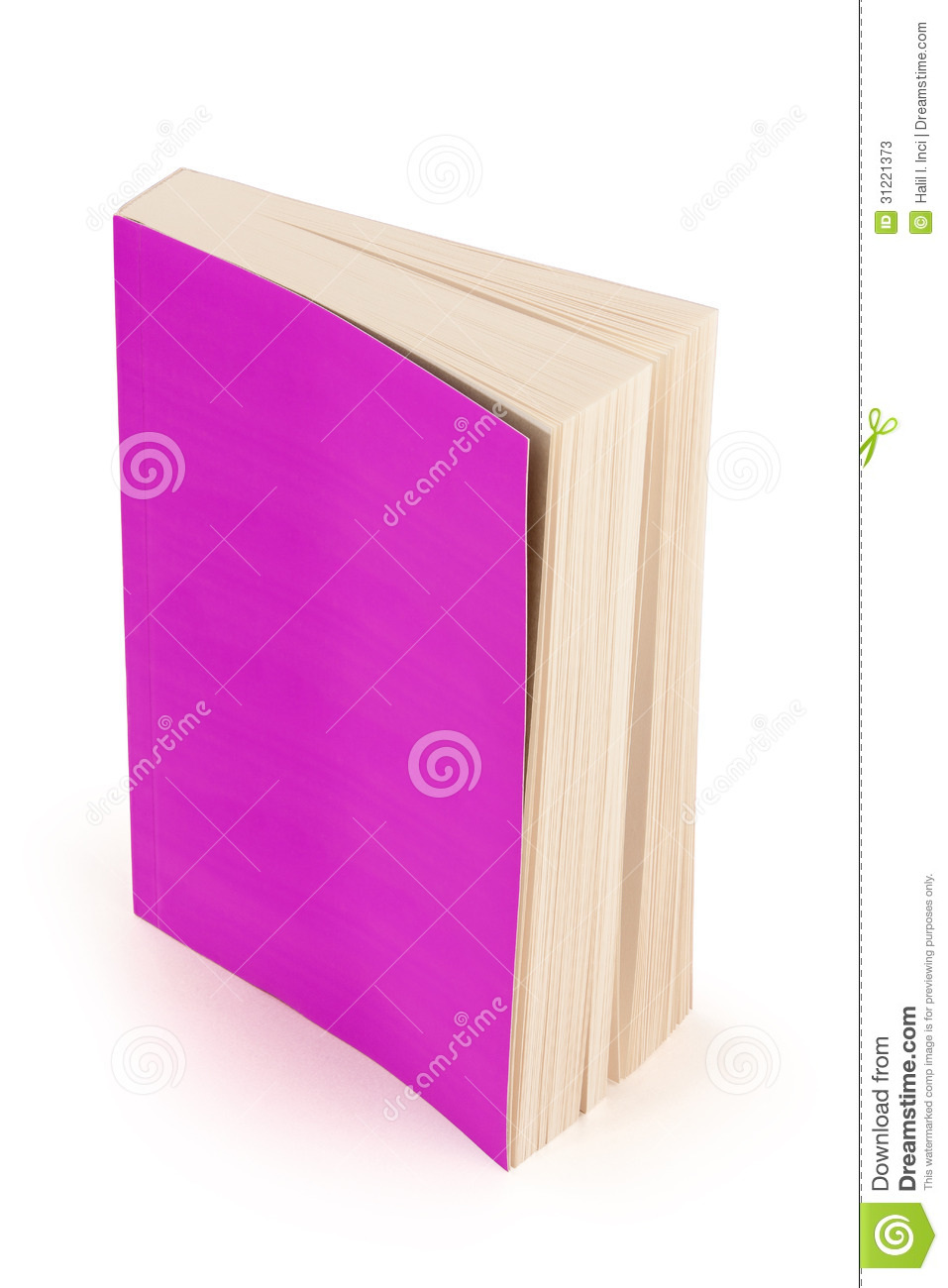 purple book cover with clipping path stock photos