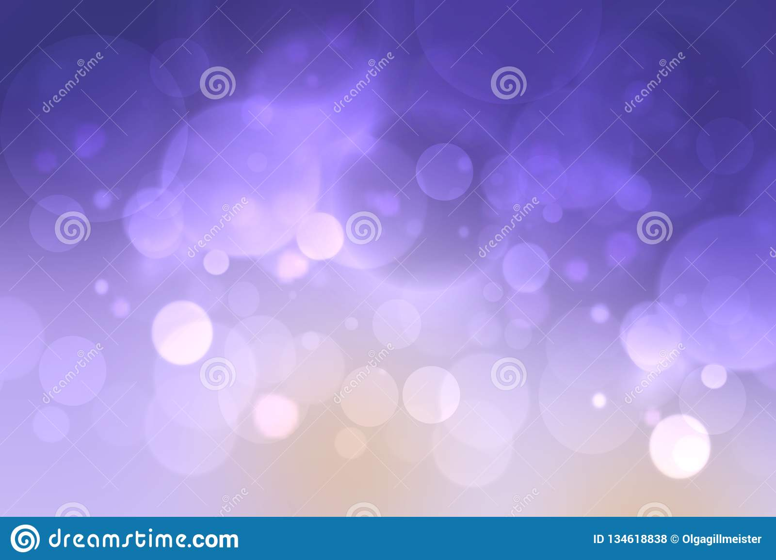 Purple Bright Abstract Bokeh With Colorful Circles  Template For
