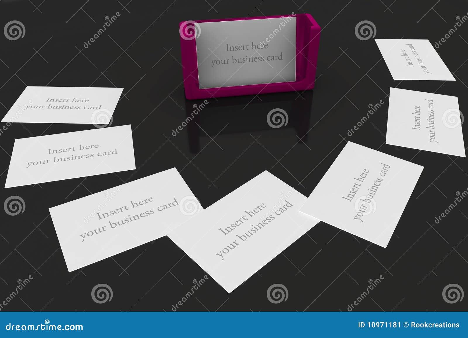 Purple Business Card Holder Stock Illustration - Illustration of ...