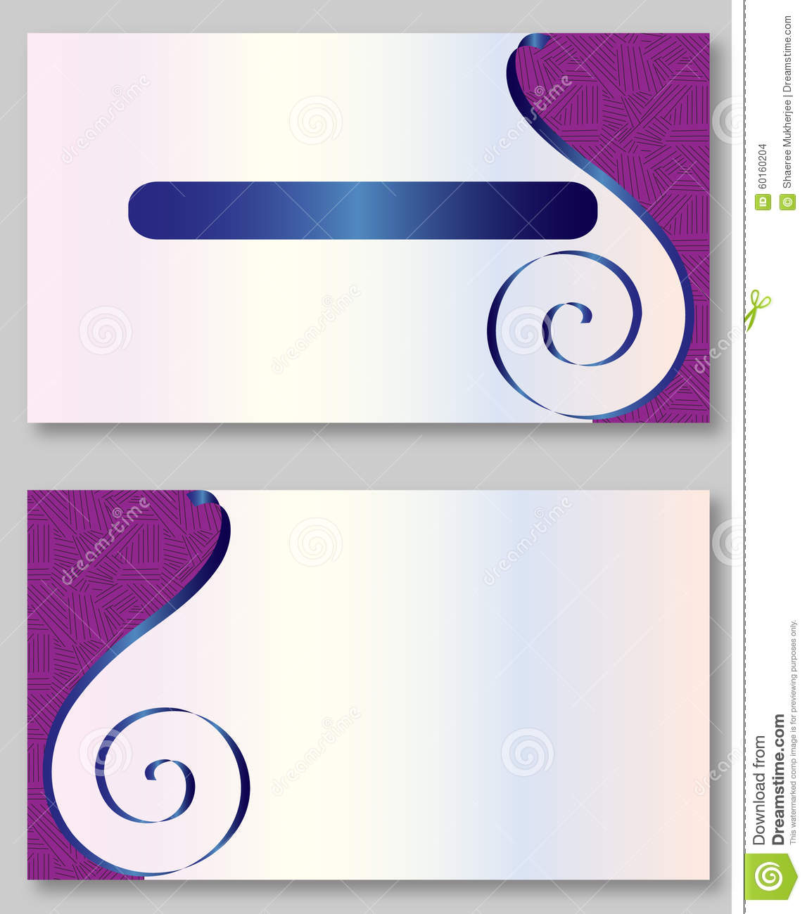 Purple Business Card Template Stock Vector - Illustration of ...