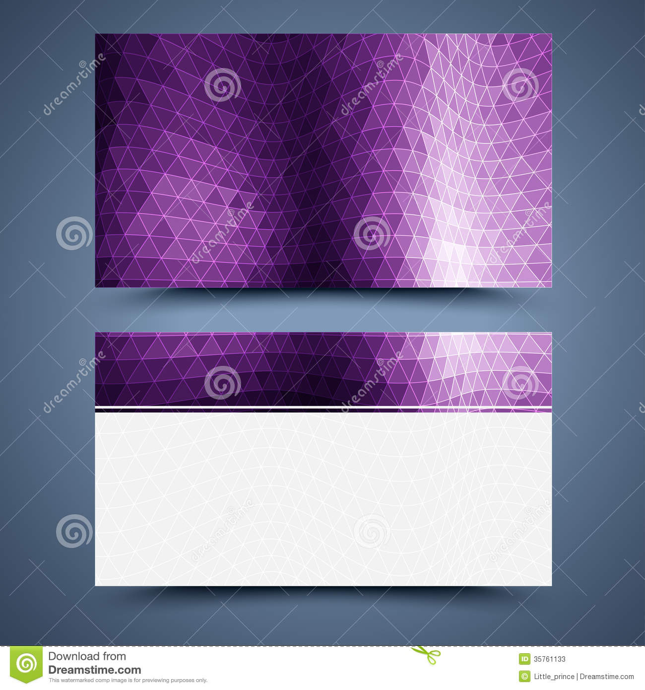 Business Card Template Abstract Background