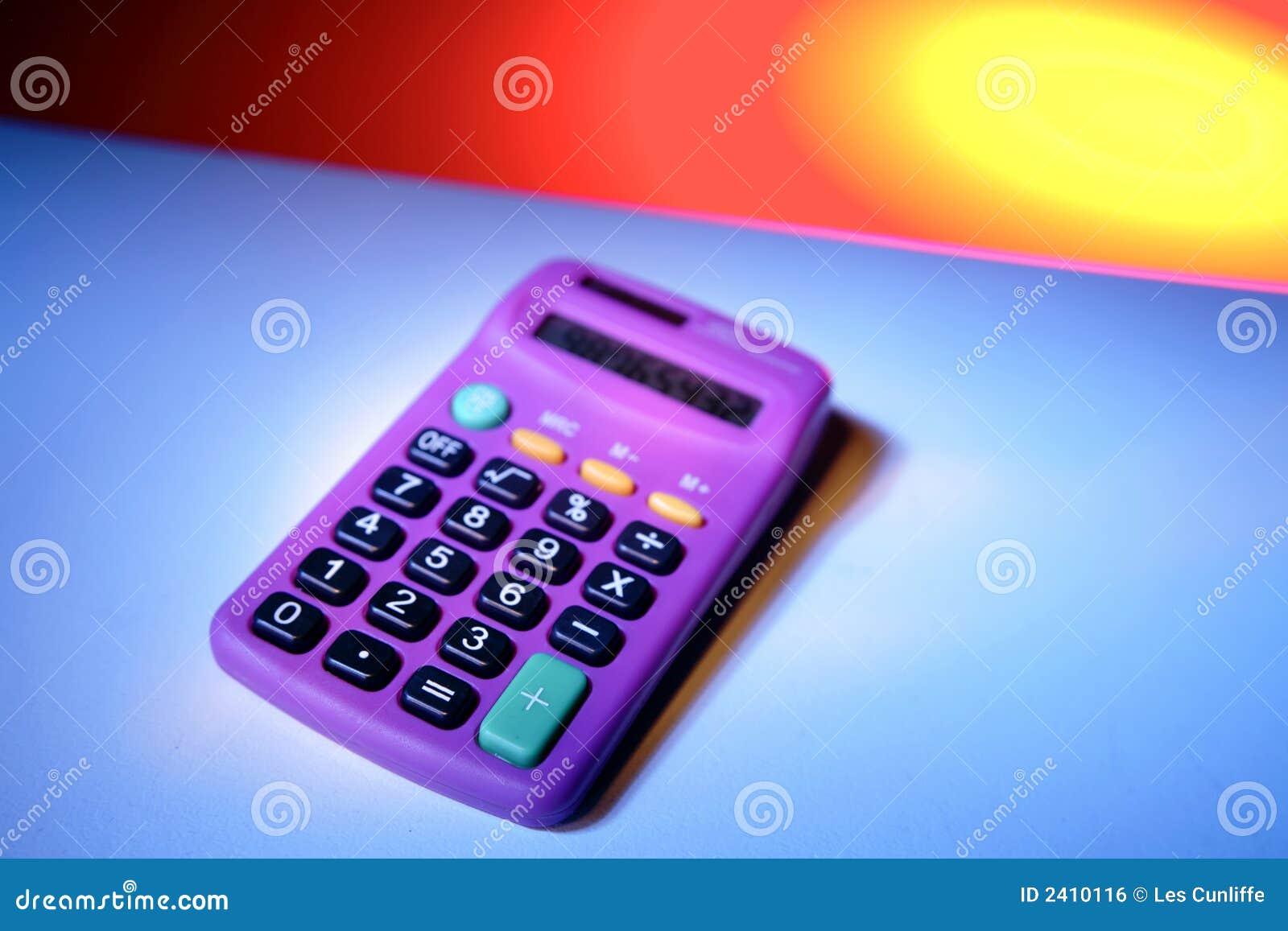Purple Calculator Royalty Free Stock Image Image 2410116