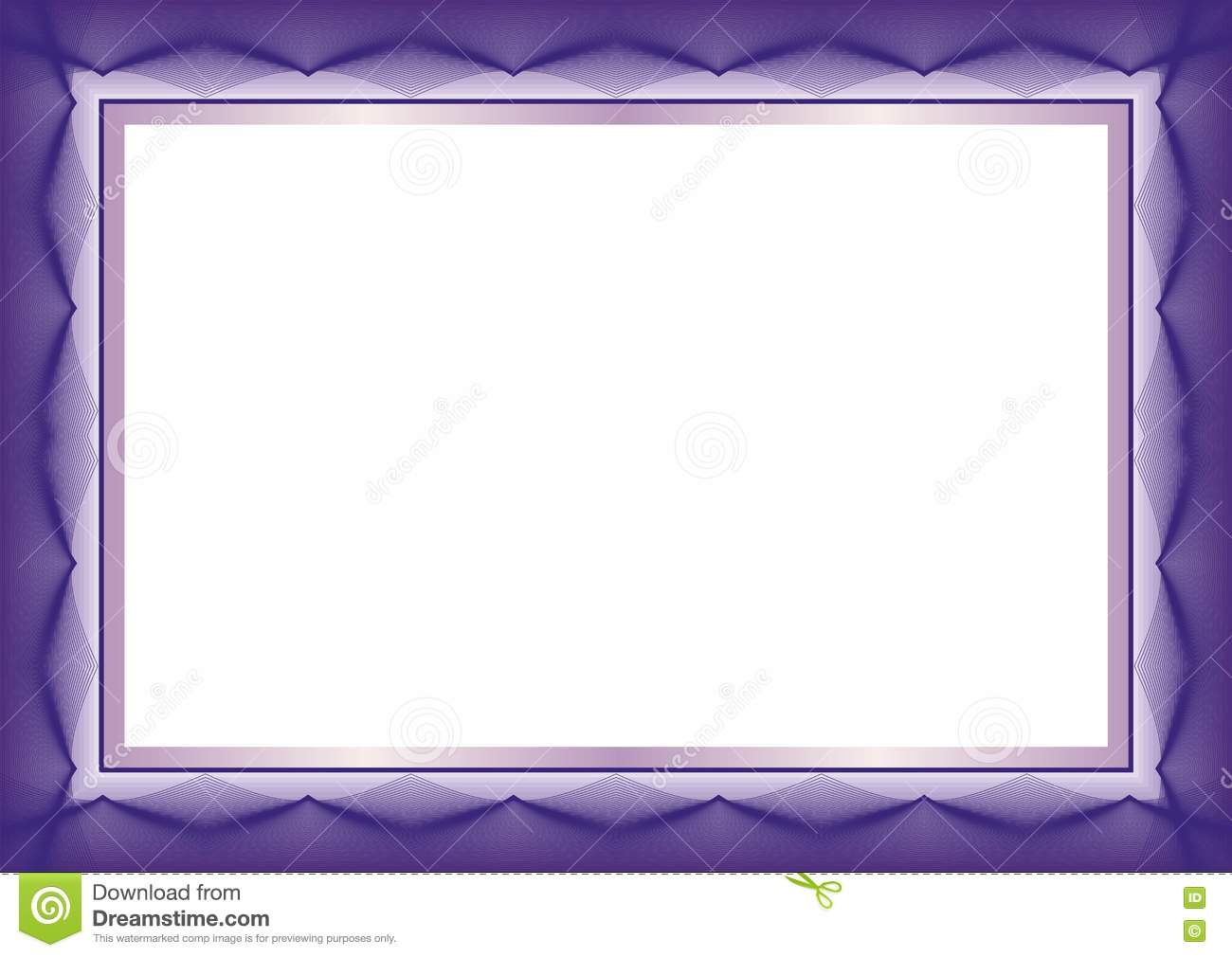 purple certificate or diploma template frame border - Certificate Border Design Templates