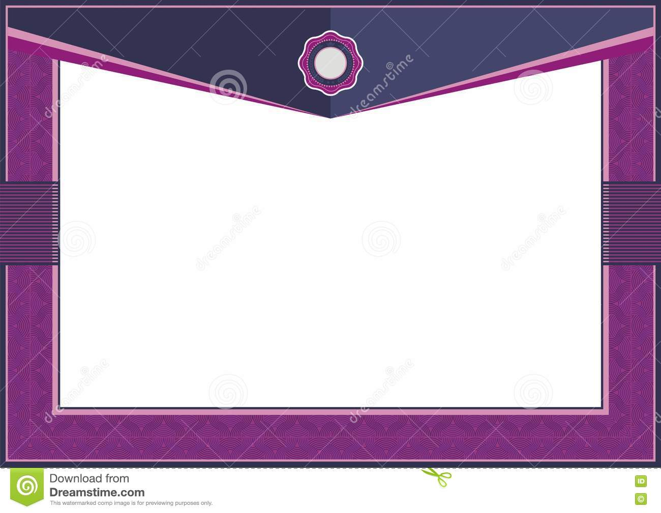 purple certificate or diploma template frame border classic celebration