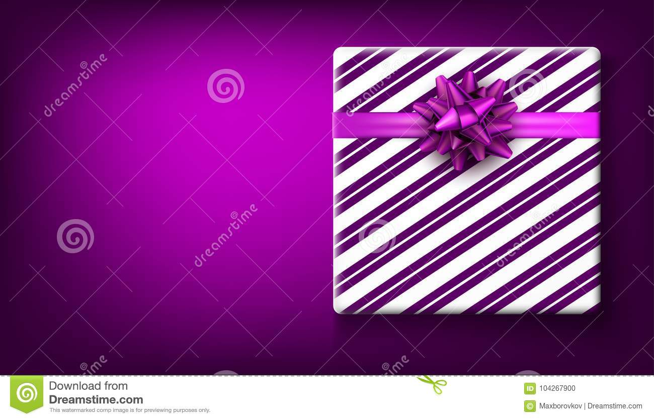purple new year background with gift