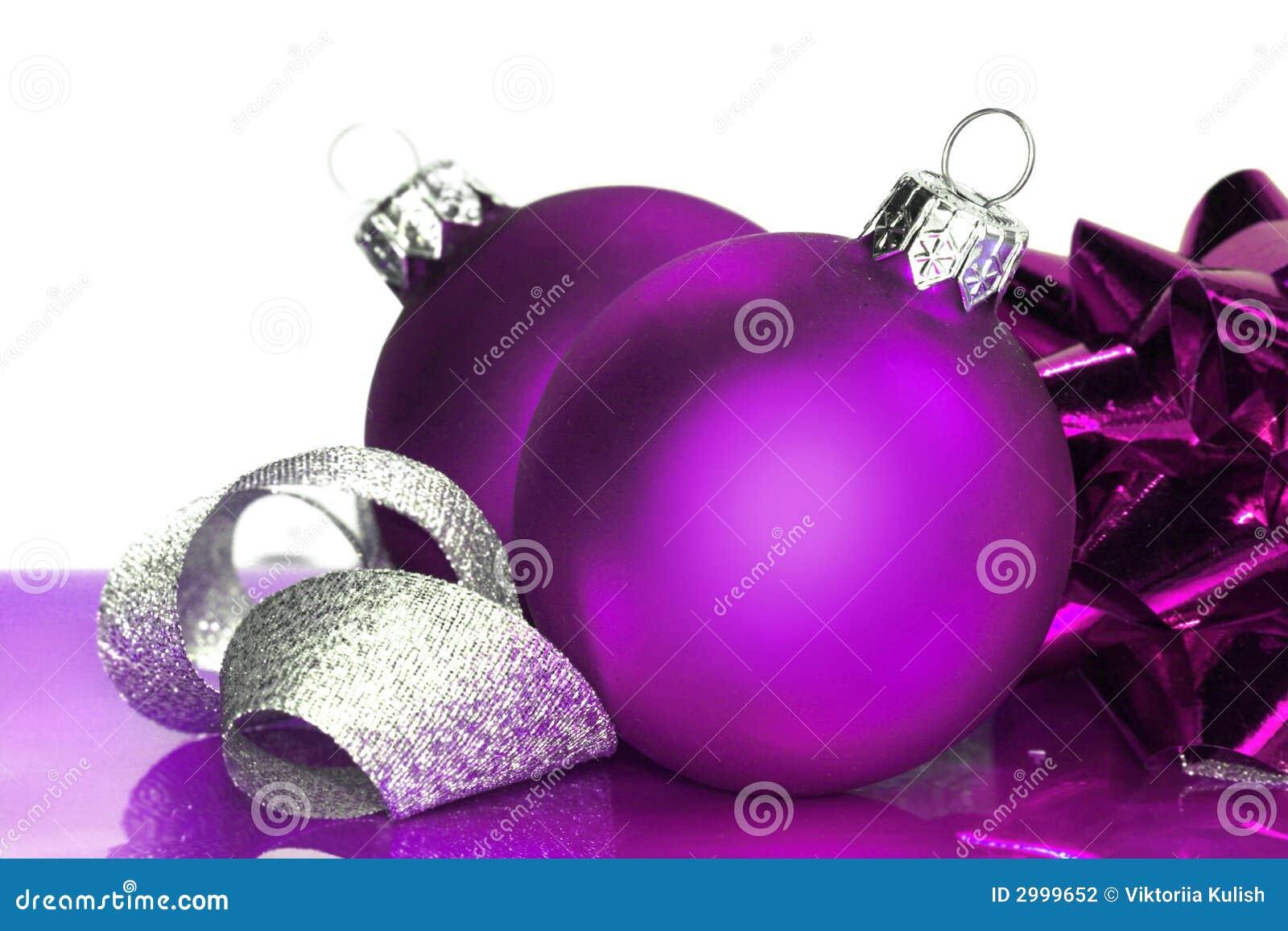 Purple christmas balls stock photo image of decoration