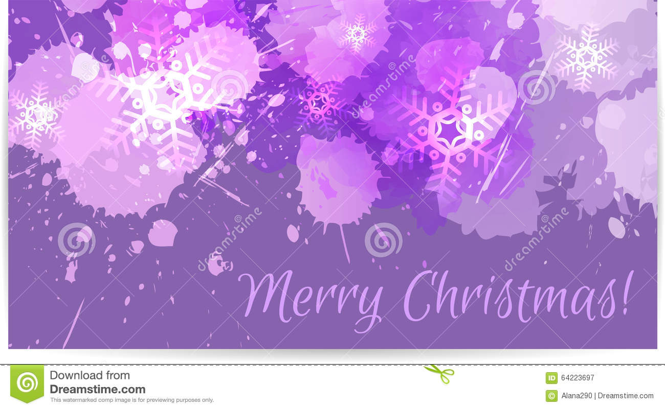 Purple christmas card stock vector image 64223697 - Is purple a christmas color ...