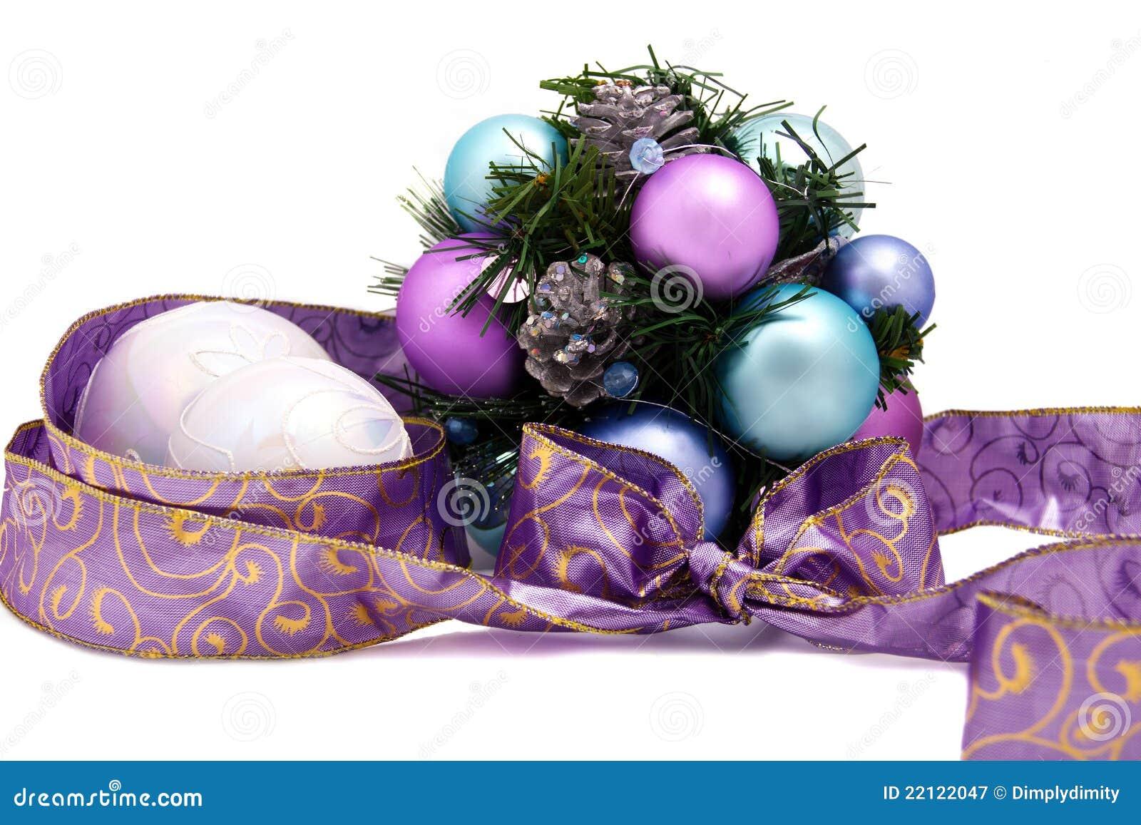 Purple Christmas Decoration Royalty Free Stock Photography - Image ...