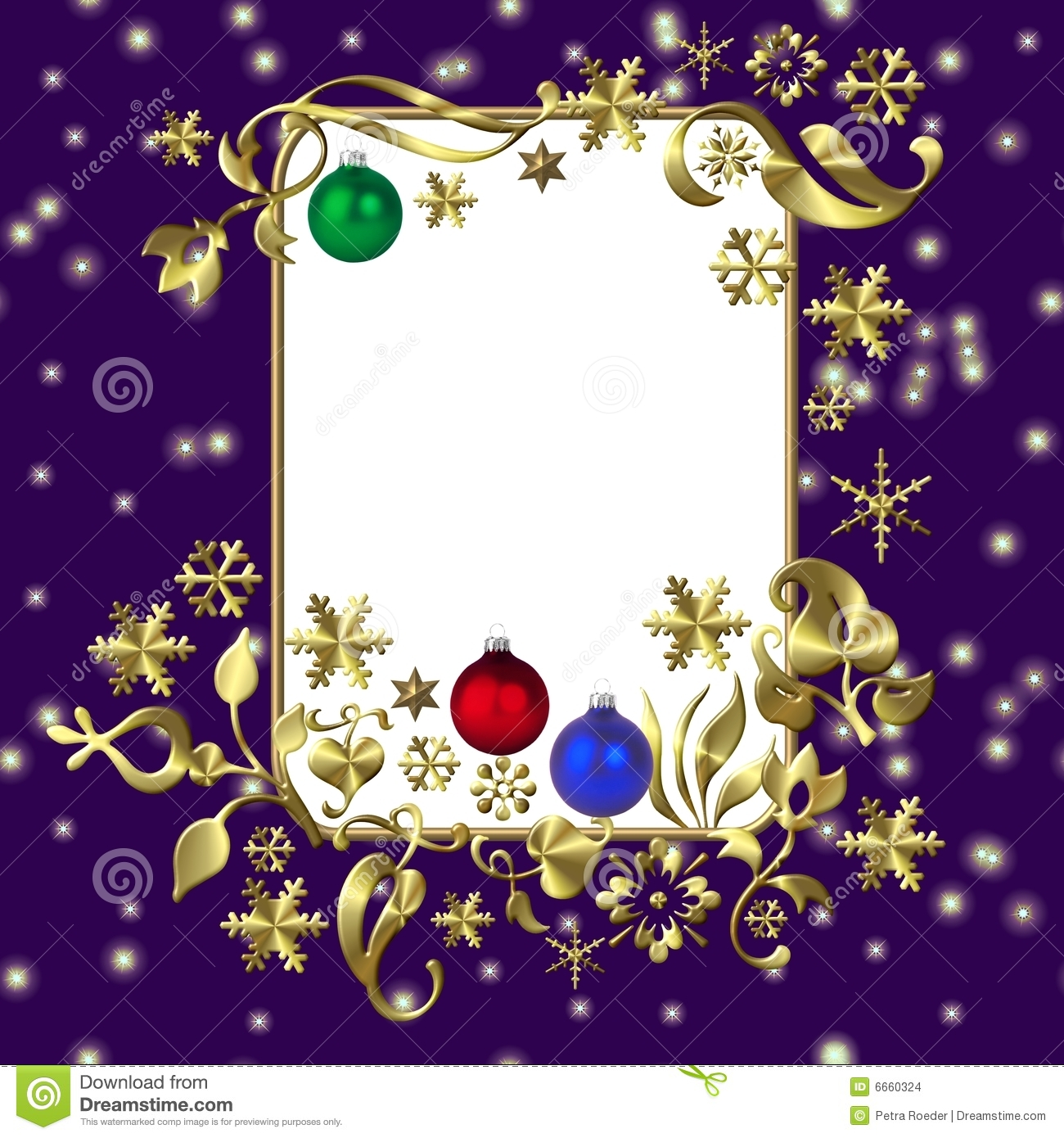 Purple christmas frame stock images image 6660324 - Is purple a christmas color ...
