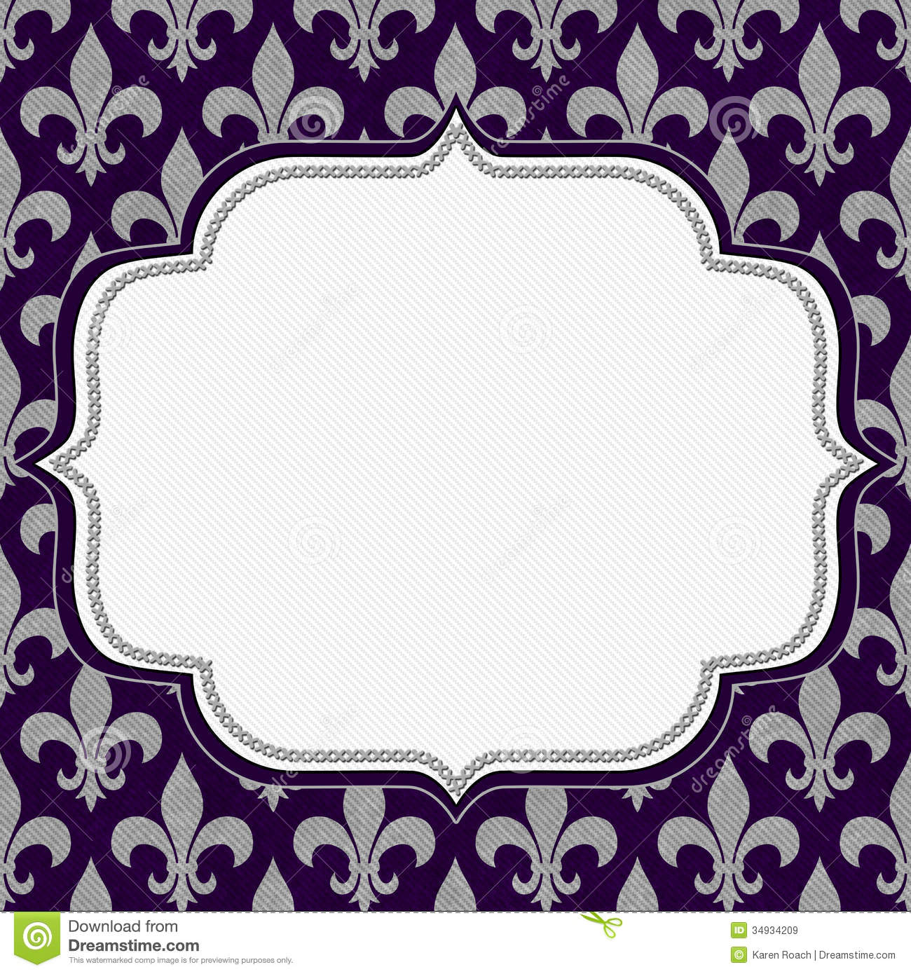 Purple Classic Background Stock Illustration Illustration