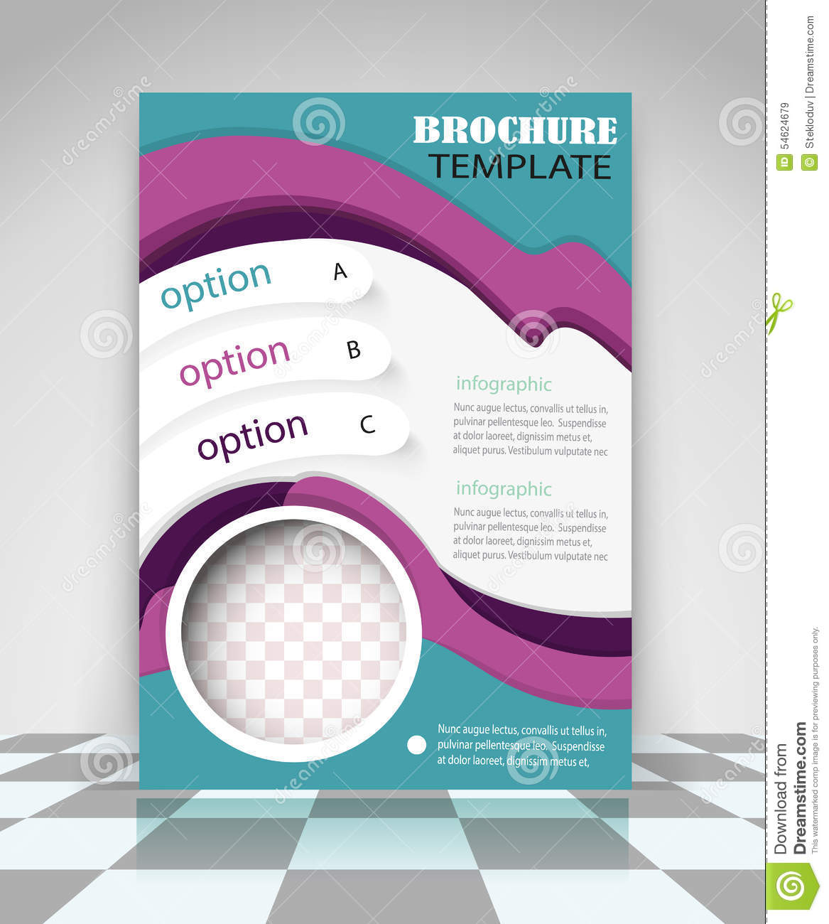 4 page brochure template free