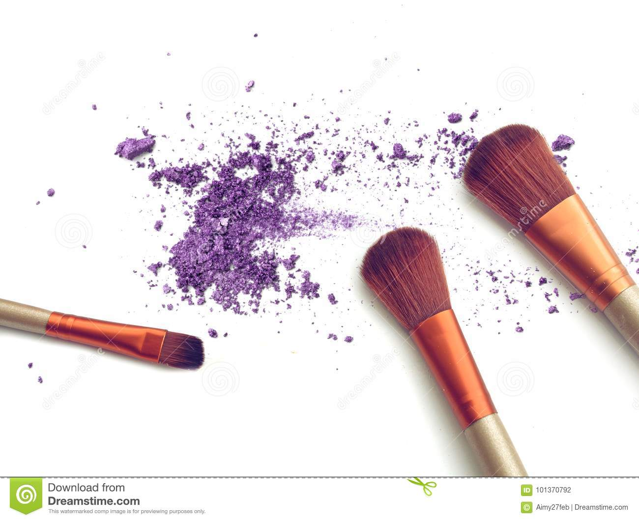 Purple crushed make up color powder and blush.