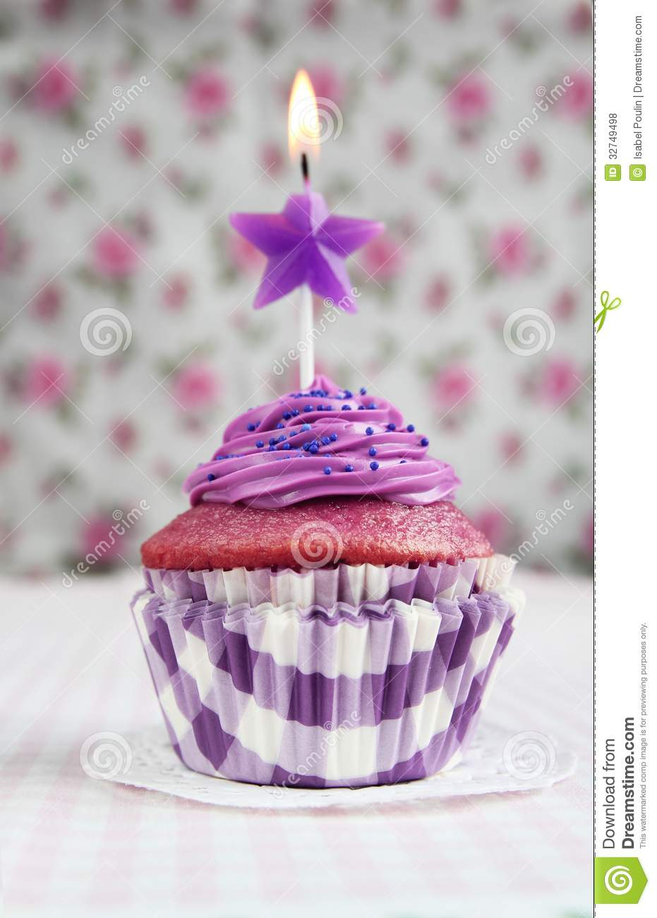 Purple Cupcake Royalty Free Stock Photos Image 32749498