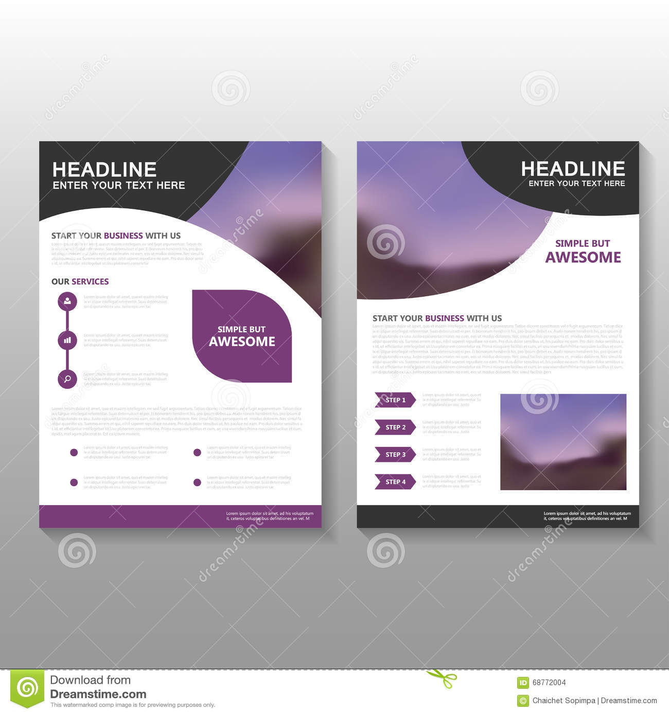 business brochure template - abstract business brochure vector illustration