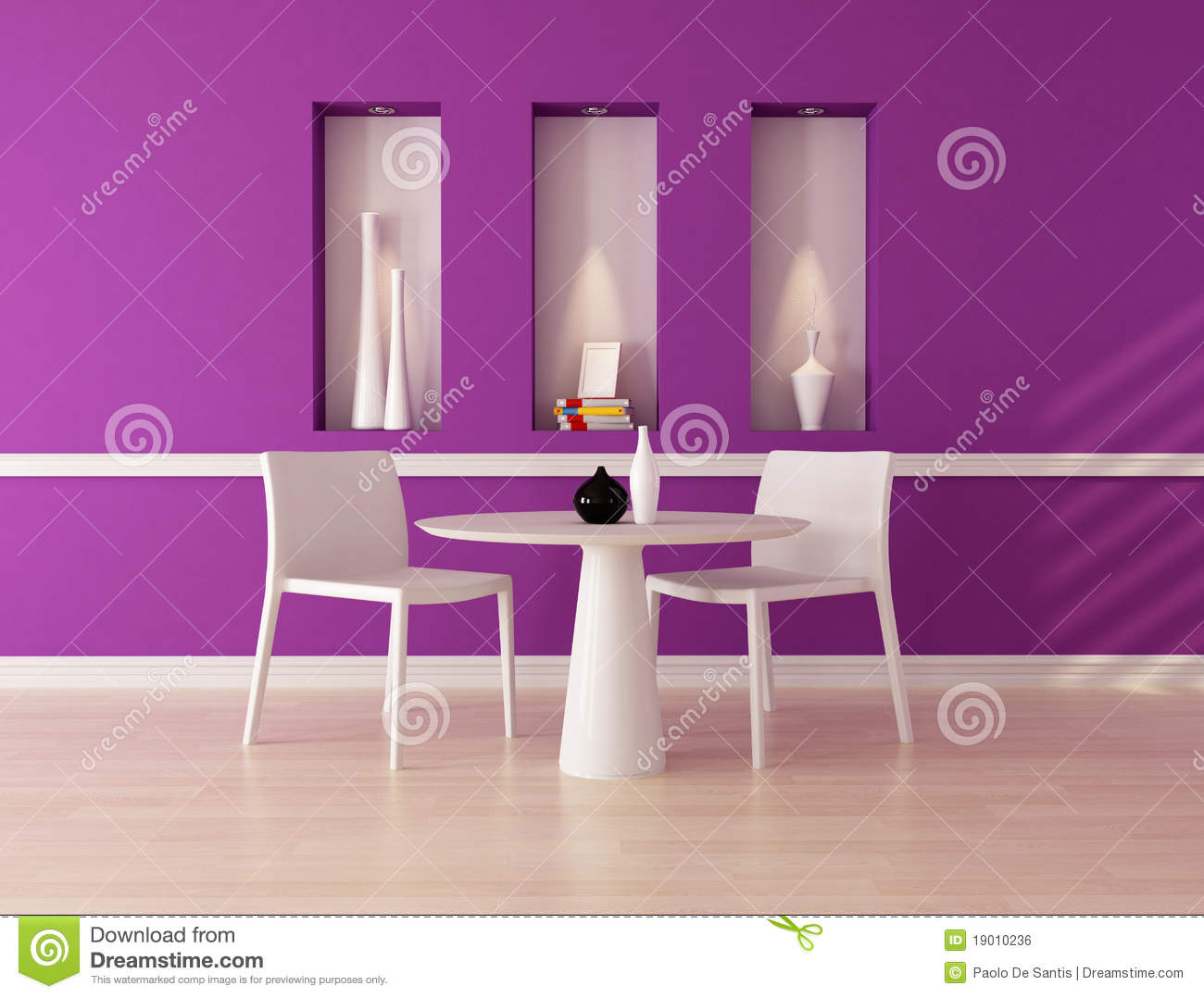 Purple dining room - Purple Dining Room Royalty Free Stock Image