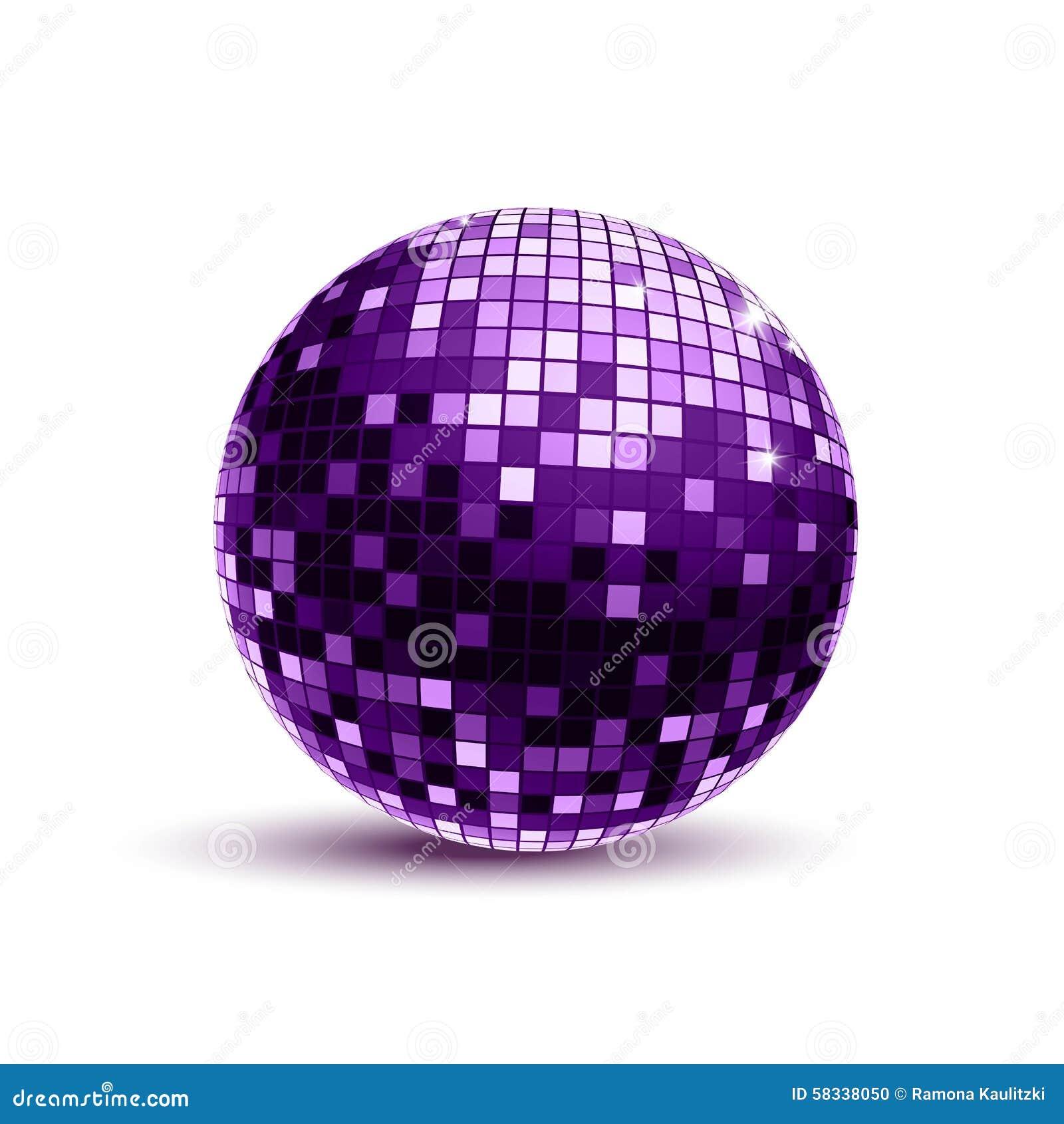 Purple disco ball stock illustration illustration of - Bola de discoteca de colores ...