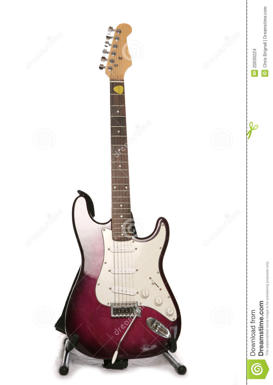 Purple Electric Guitar Stock Images - Image: 20030224