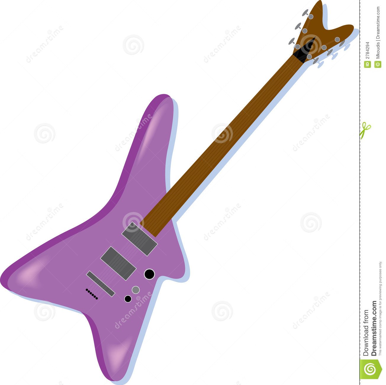 Purple Electric Guitar Stock Vector Illustration Of Entertainment