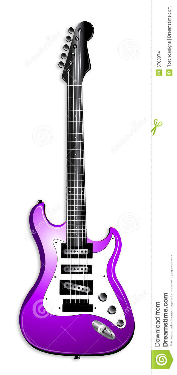 Purple Electric Guitar Illustration Stock Images - Image ...