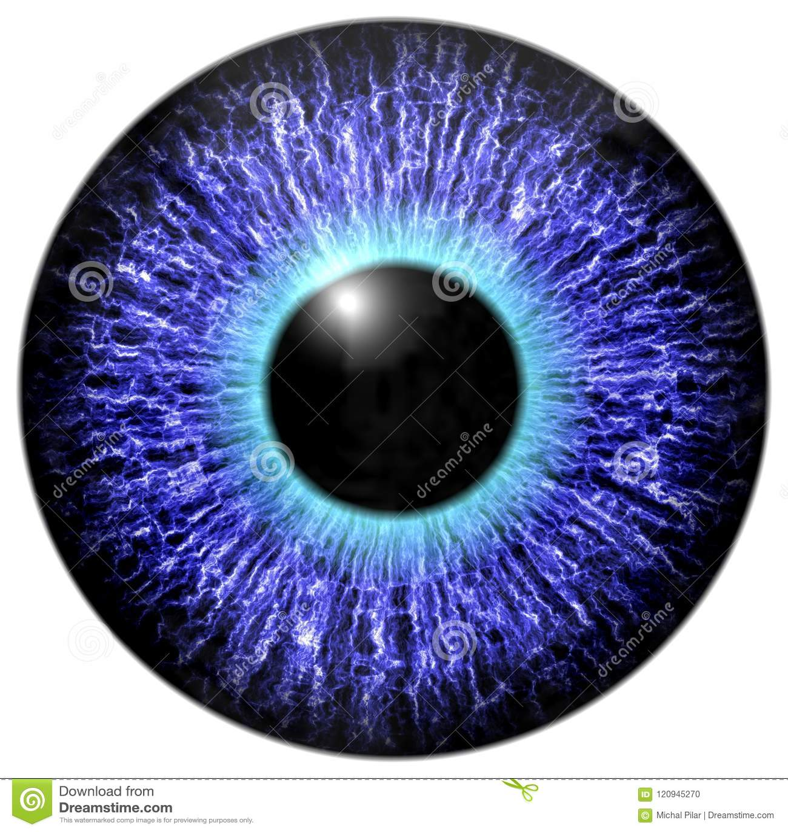Purple eye 3d texture stock illustration  Illustration of lens