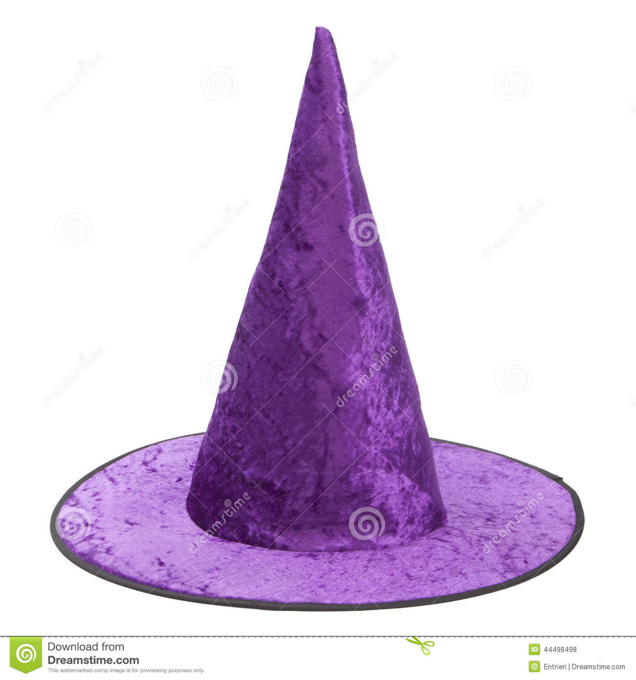 purple fabric witch hat for halloween stock photo image
