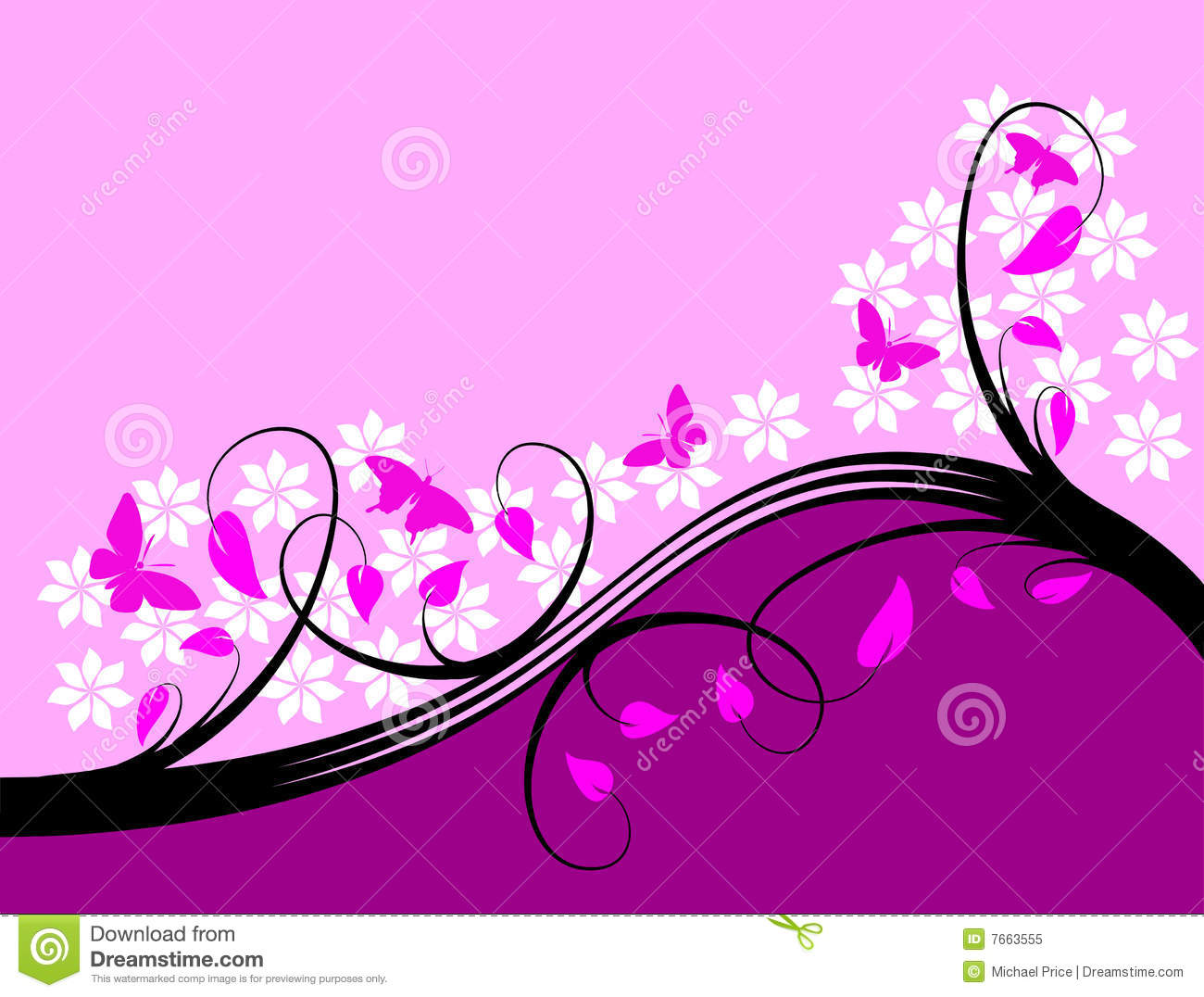 Purple Floral Background Design Royalty Free Stock Photo