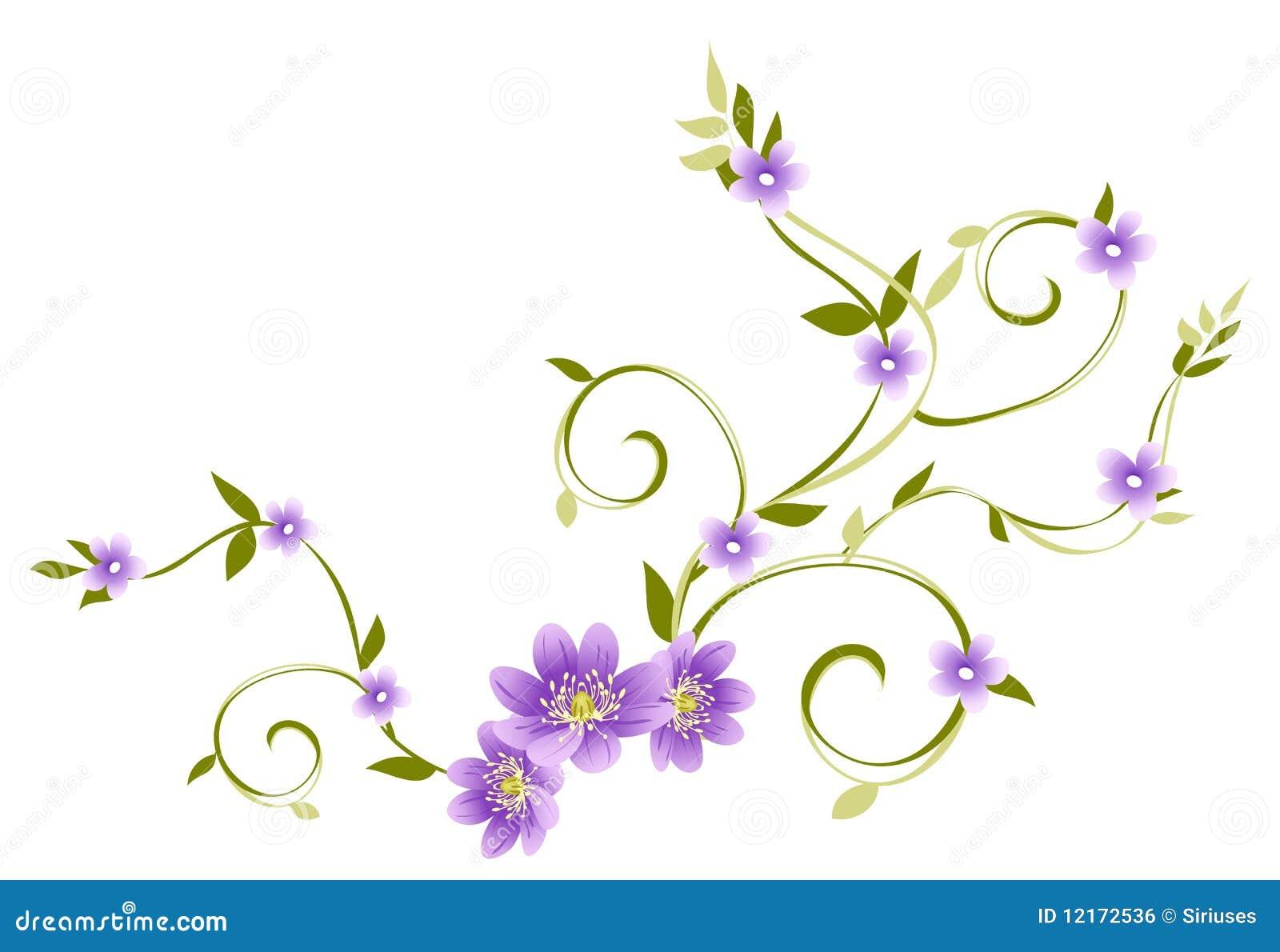 Purple Flower Drawing Purple Flower Drawing Purple