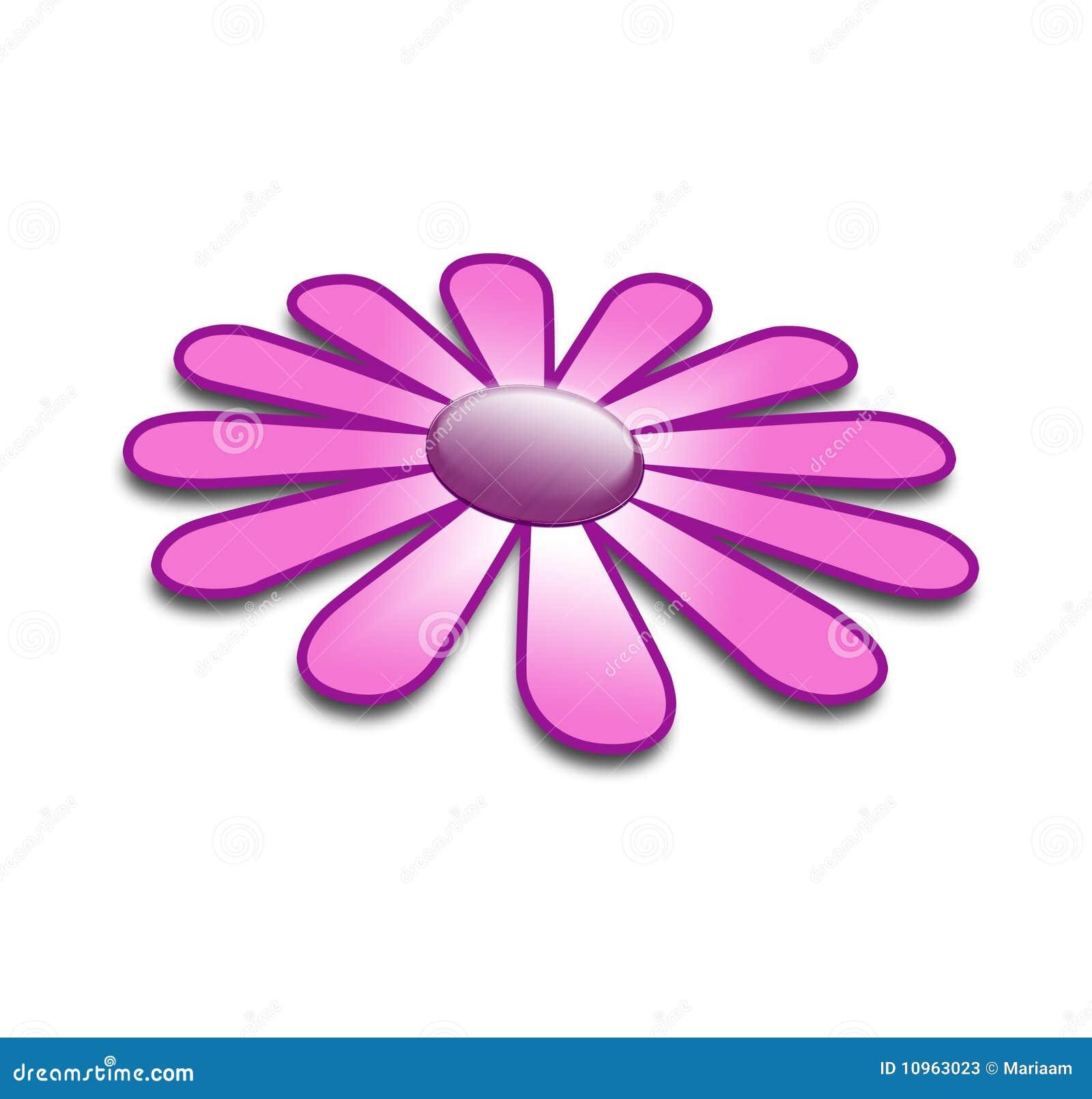 purple flower in 3d stock illustration. illustration of decoration