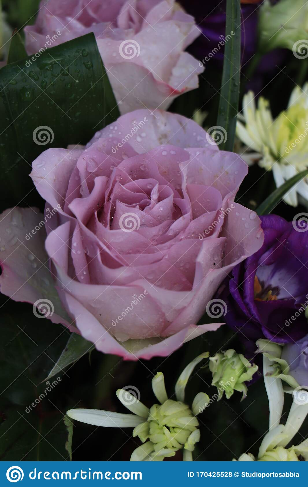 Purple Flower Arrangement For A Wedding Stock Photo Image Of Summer Spring 170425528