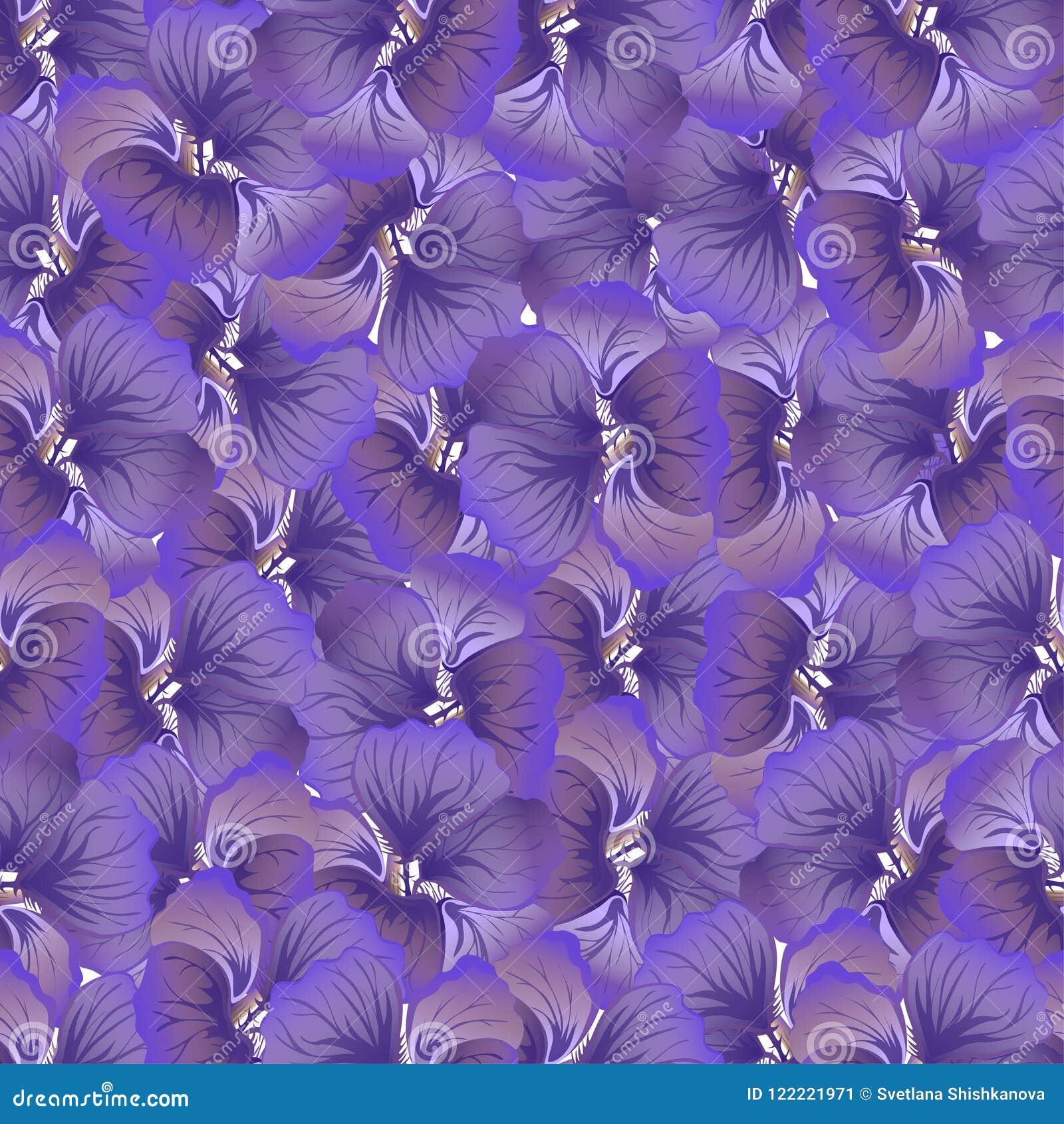 Purple Flower Print Vintage Floral Pattern Trendy Seamless