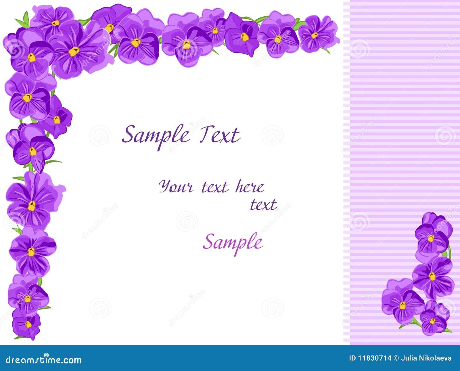 Purple Flowers Stock Vector Illustration Of Floral List 11830714