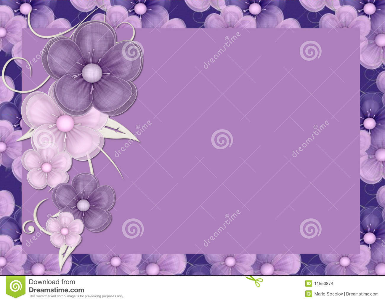 Purple Flowers Background Stock Illustration Image Of Daisies