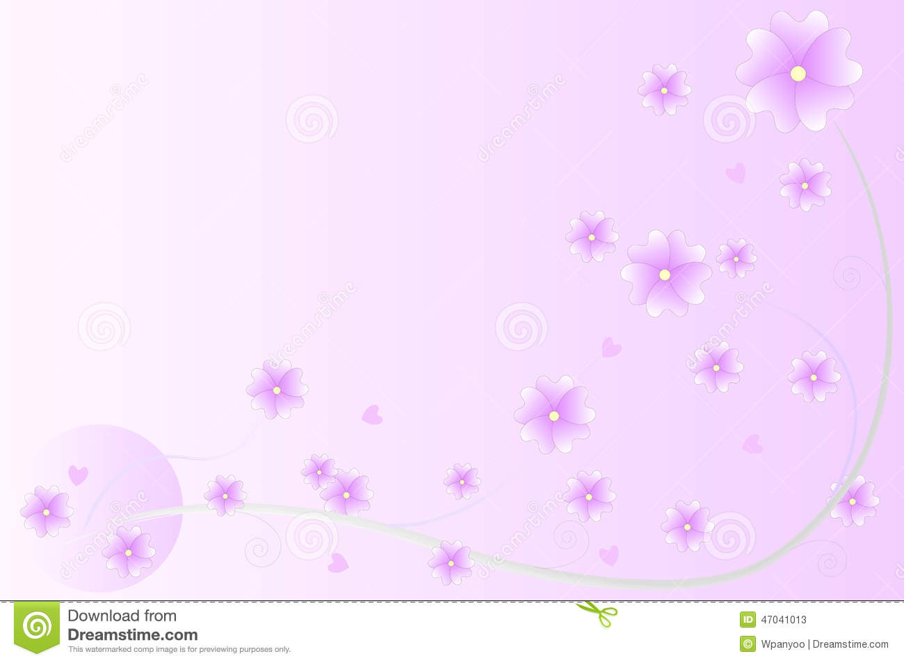 purple flowers background stock vector image 47041013