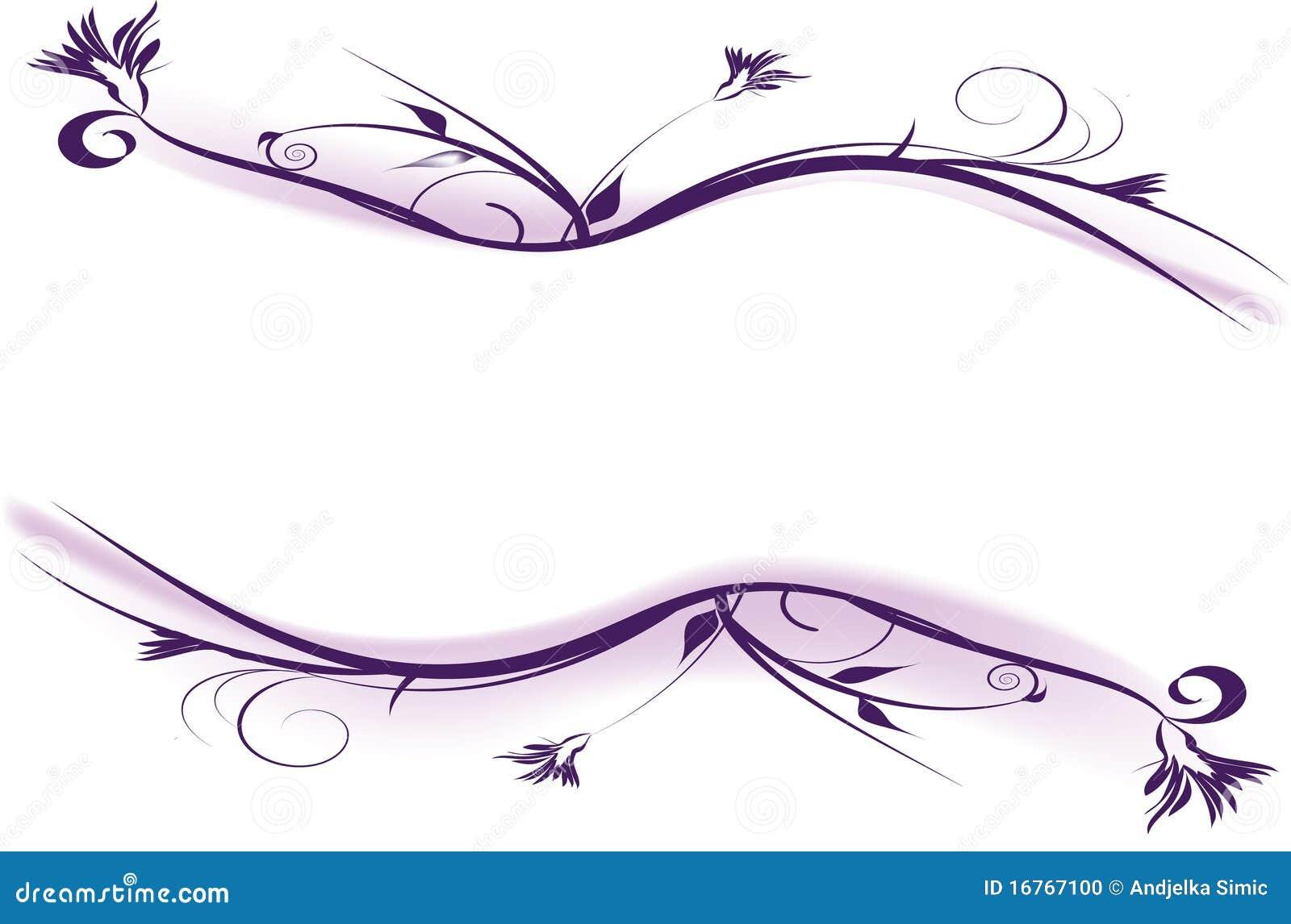 Purple Flowers Decorative Design Stock Photo - Image: 16767100