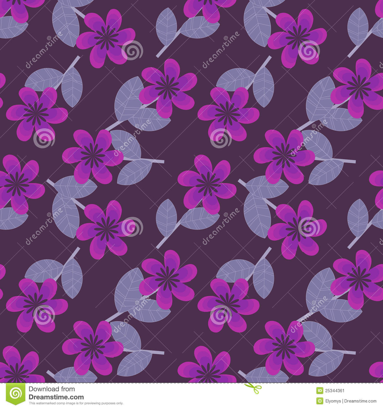 Purple Flowers Pattern Stock Image - Image: 25344361